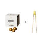 Guld chokolade/lakridskugler + 1 stk. NipNap Gold